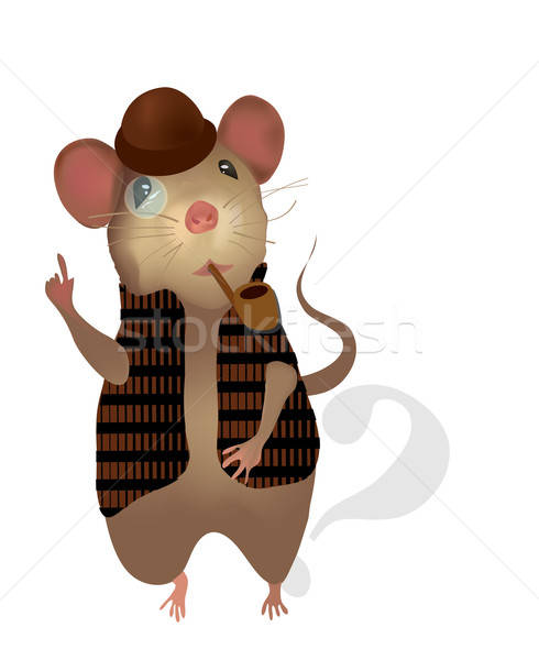 Sherlock Holmes Mouse. Vector of a Detective  Stock photo © Aleksa_D