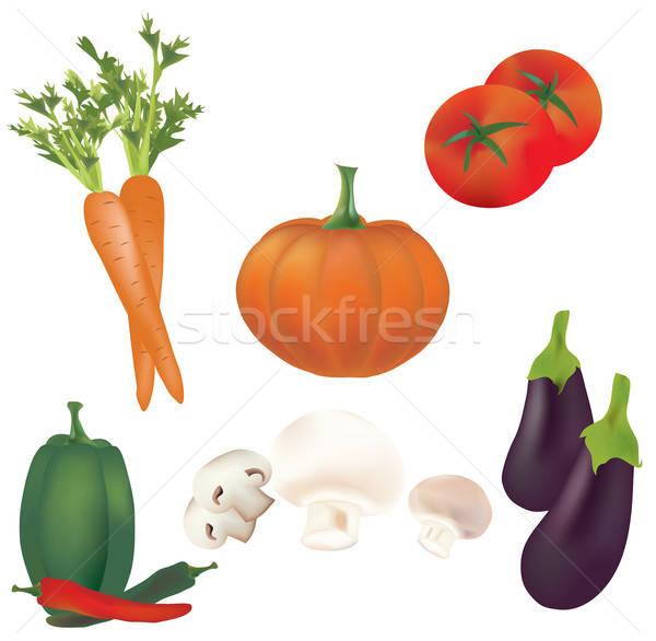 3D ingesteld vector groenten illustratie collectie Stockfoto © Aleksa_D