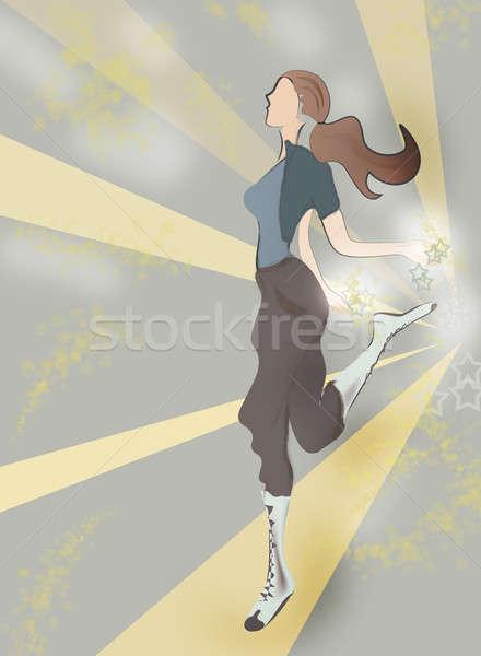 Actief meisje beweging abstract Stockfoto © Aleksa_D