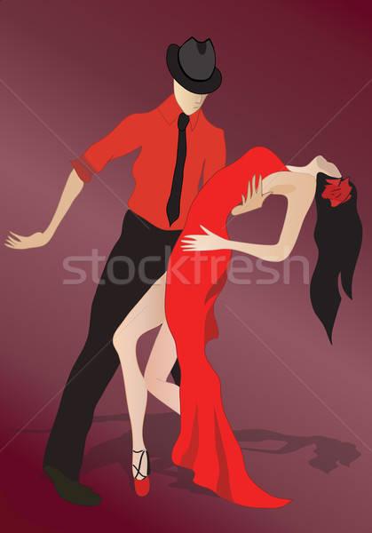 Salsa dansers dansen paar Stockfoto © Aleksa_D