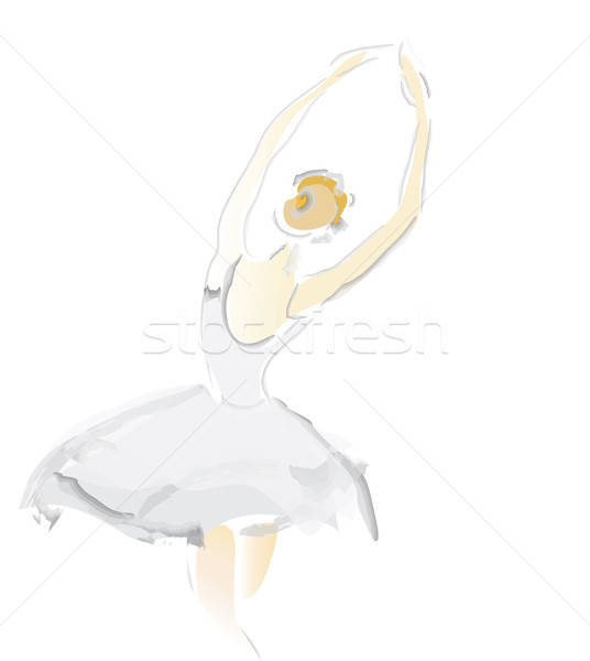 Ballerina schets ballet dans prestaties vector Stockfoto © Aleksa_D