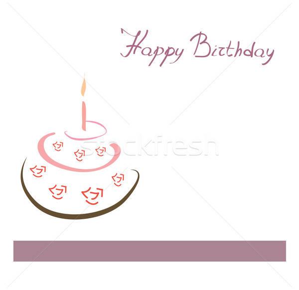 Gelukkige verjaardag kaart cake exemplaar ruimte papier abstract Stockfoto © Aleksa_D