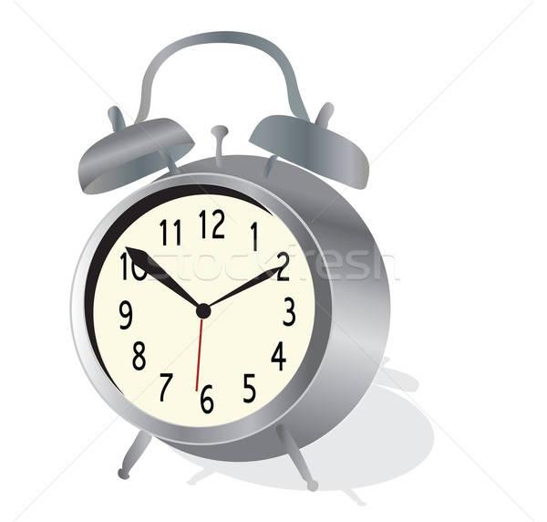 Wekker vector klassiek horloge metaal tijd Stockfoto © Aleksa_D
