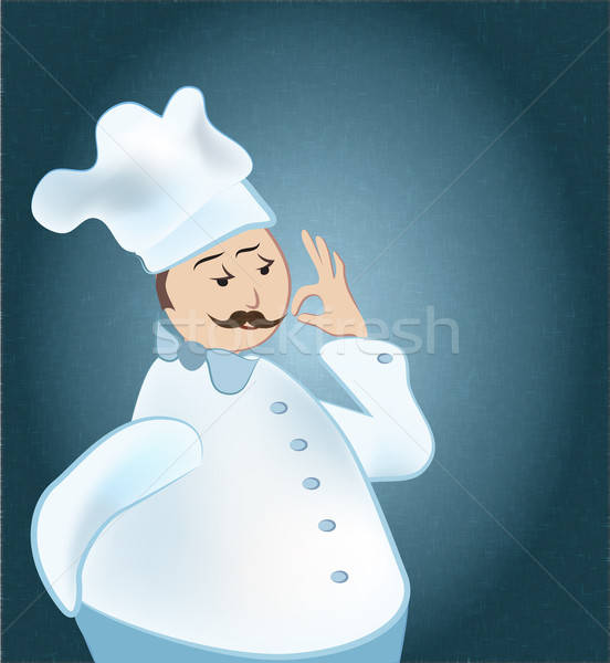Chef man uniform tonen teken Stockfoto © Aleksa_D