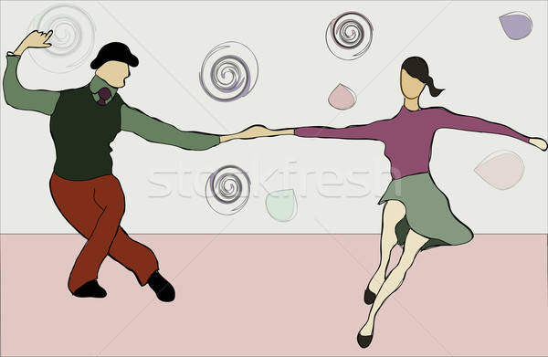 Swing dansers dansen paar muziek man Stockfoto © Aleksa_D