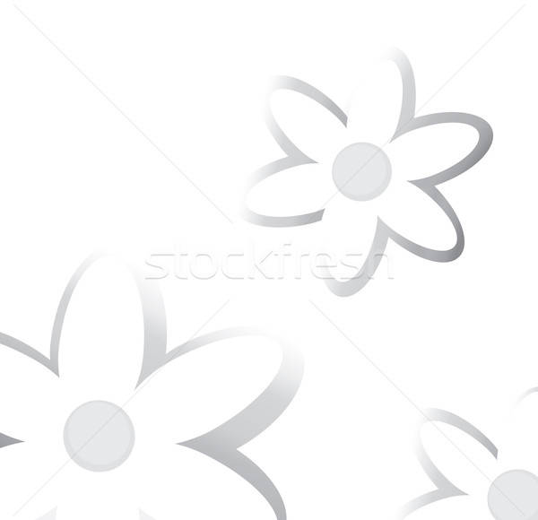 Floral Background. Flower Pattern in Black and White Stock photo © Aleksa_D