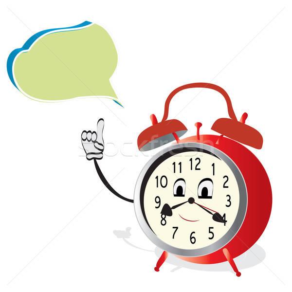 Beszél ébresztőóra óra beszéd buborék iskola Stock fotó © Aleksa_D