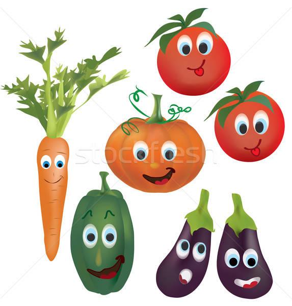 Ingesteld vector groenten karakter illustratie collectie Stockfoto © Aleksa_D
