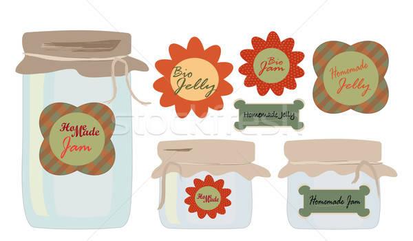 Ingesteld collectie gelei jam eigengemaakt Stockfoto © Aleksa_D