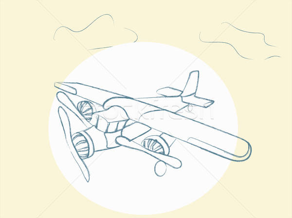 Vector Retro Airplane Stock photo © Aleksa_D