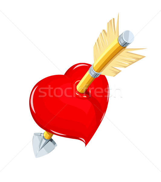 Cuore arrow simbolo amore santo san valentino Foto d'archivio © Aleksangel