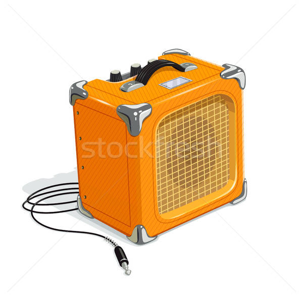 Orange guitar combo amplifier with cord Stock photo © Aleksangel