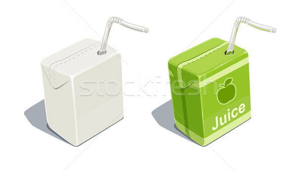 Cardboard pack with tube blank and for apple juice  Stock photo © Aleksangel