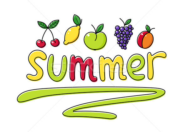 Summer fruits Stock photo © Aleksangel