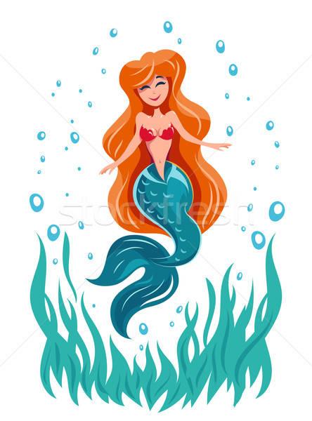 Sereia conto de fadas marinha peixe mar Foto stock © Aleksangel