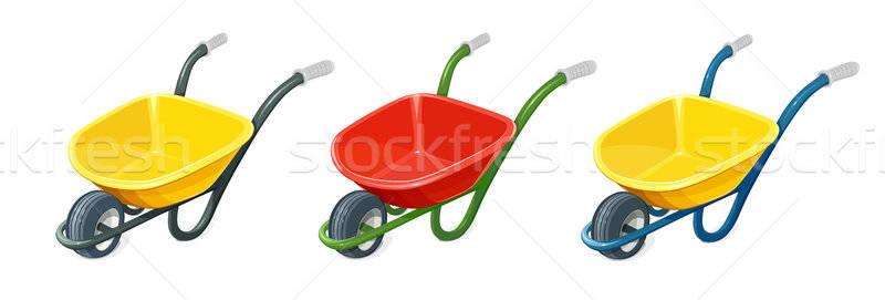 Brouette une roue transport fret Photo stock © Aleksangel