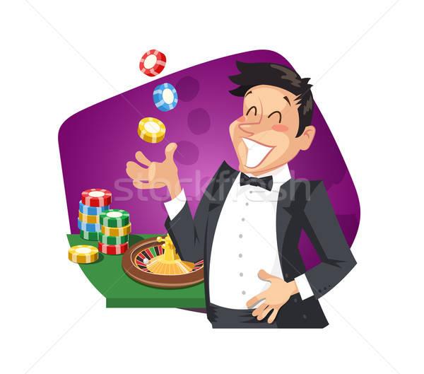 Man play roulette in casino Stock photo © Aleksangel