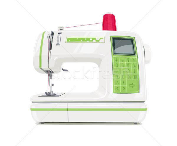 Modern sewing machine with red spool thread Stock photo © Aleksangel