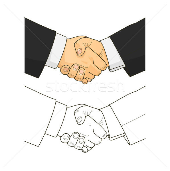 Male handshake Stock photo © Aleksangel