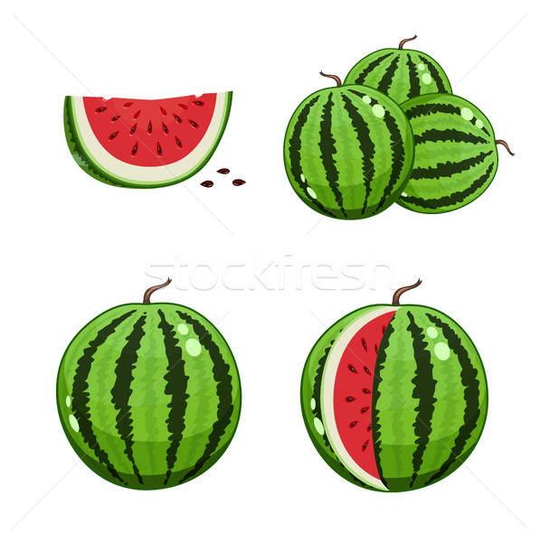 Watermelon and watermelon slice Stock photo © Aleksangel