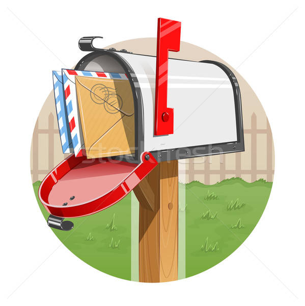 Stock photo: Mail box with letters