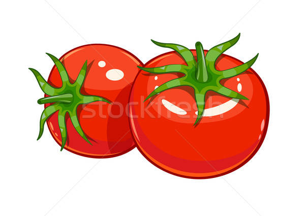 Pair red ripe tomato vector illustration eps10 Stock photo © Aleksangel