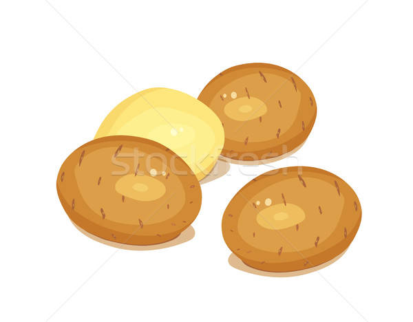 Stock photo: Potatoes. Vegetable foodstuff