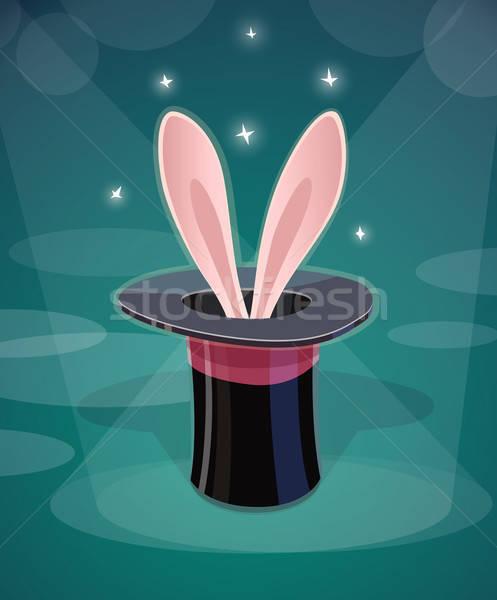 魔法 キャップ ウサギ 耳 eps10 ウサギ ストックフォト © Aleksangel