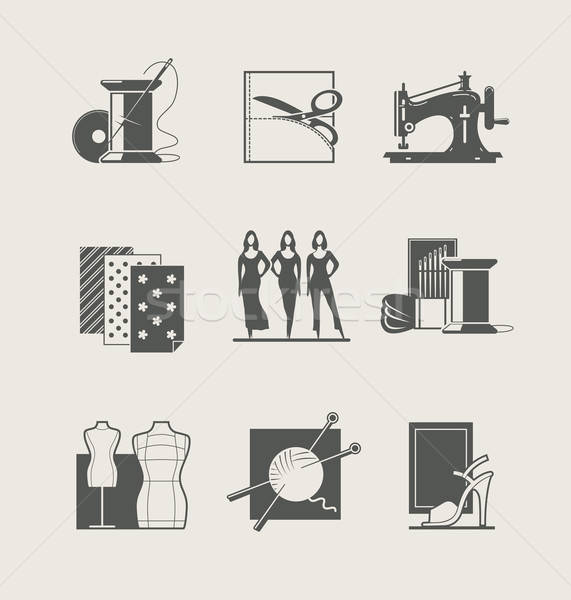 Stock photo: Sewing. Set of  icons