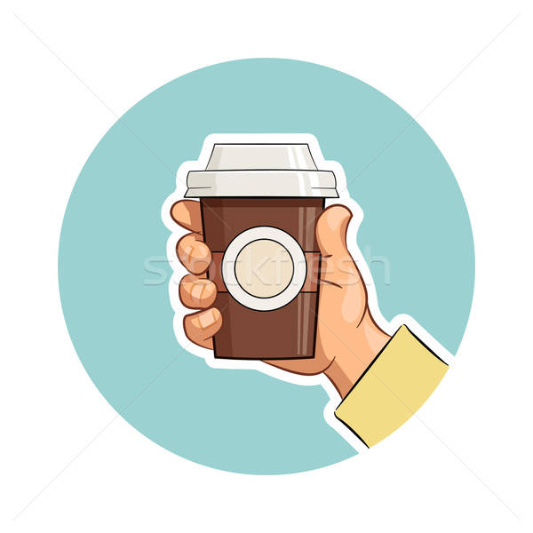 Cup of coffee in hand Stock photo © Aleksangel