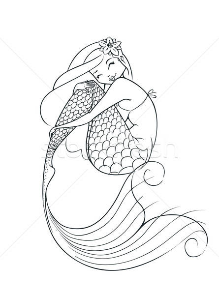 mermaid fairy-tale character Stock photo © Aleksangel