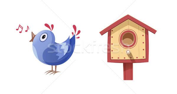鳥 歌う 歌 ボックス eps10 孤立した ストックフォト © Aleksangel