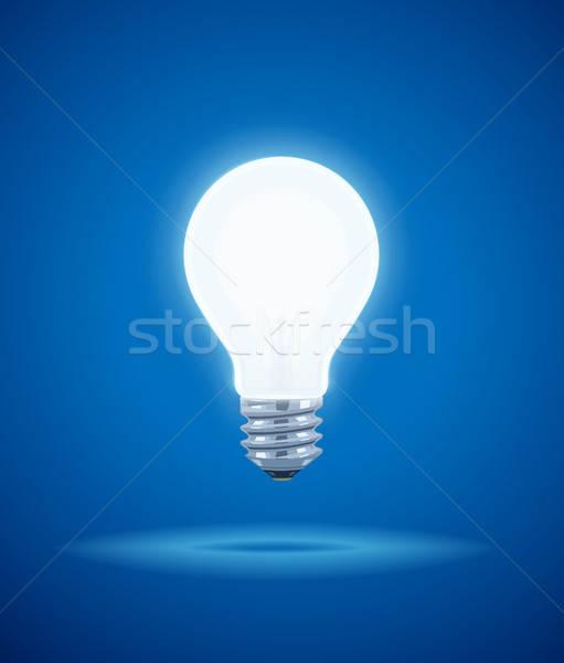 Takarékosság erő ragyogó elektromos villanykörte fény Stock fotó © Aleksangel