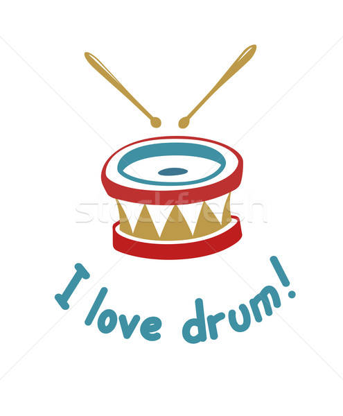 Drum. Music instrument. Stock photo © Aleksangel