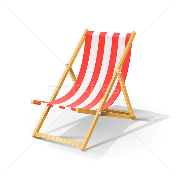 wooden beach chaise longue Stock photo © Aleksangel