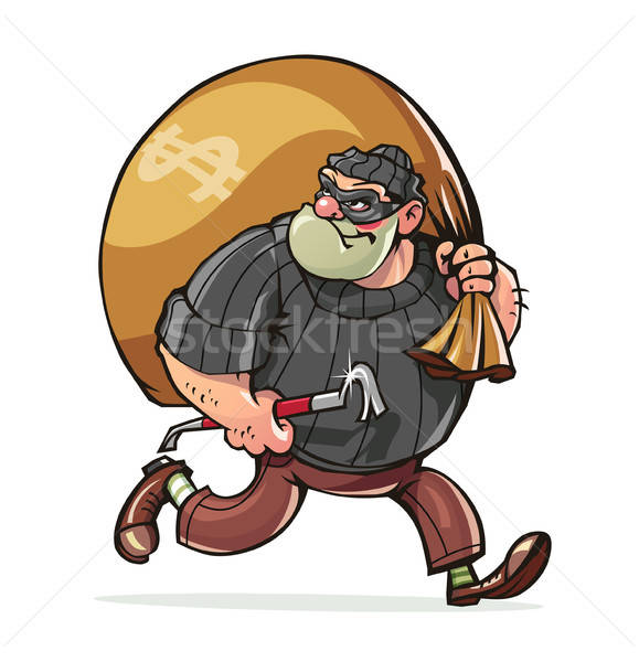 бандит мешок деньги вектора eps10 Сток-фото © Aleksangel