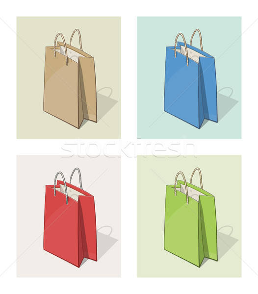 Paper bag for shopping Stock photo © Aleksangel