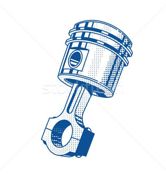 商业照片 / 矢量图: 金属的 · 齿轮 · 活塞 · 汽车 · 发动机