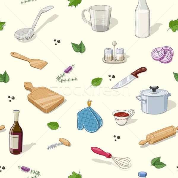 Keuken eps10 textuur achtergrond Stockfoto © Aleksangel