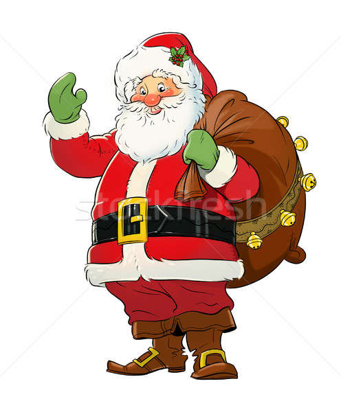 Santa Claus with gift sack. Christmas. Stock photo © Aleksangel