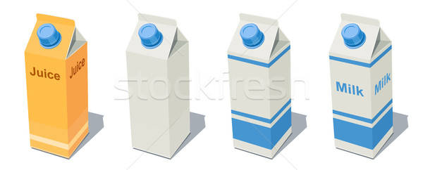 Milk Pack and Juice Pack Stock photo © Aleksangel