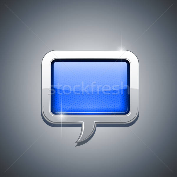 metallic speech bubble Stock photo © Aleksangel