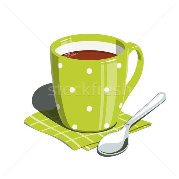Tea cup and spoon Stock photo © Aleksangel