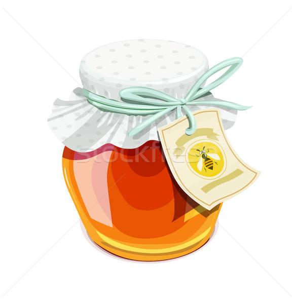 Méz bögre klasszikus stílus finom bioélelmiszer Stock fotó © Aleksangel