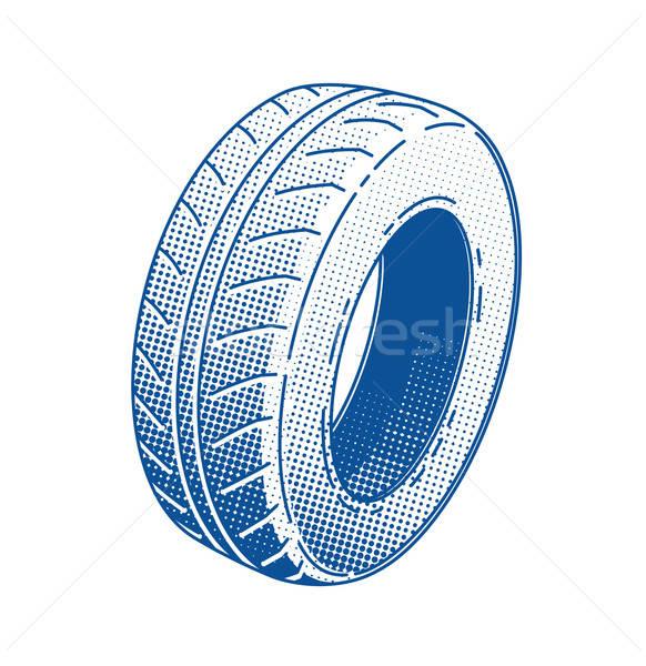 Car tire. Rubber wheel.  Stock photo © Aleksangel