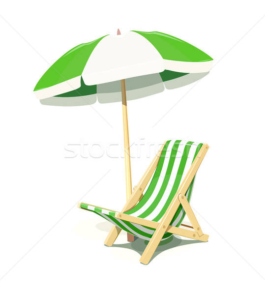 Beach chair and umbrella for summer rest Stock photo © Aleksangel