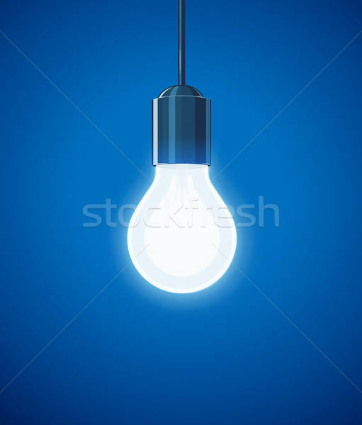 Saving power Shining Electric bulb. Stock photo © Aleksangel