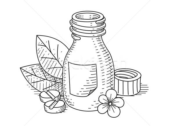 Jar pil eps8 geïsoleerd witte bloem Stockfoto © Aleksangel