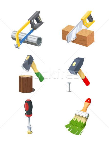 Tools. Set of vector icon. Stock photo © Aleksangel