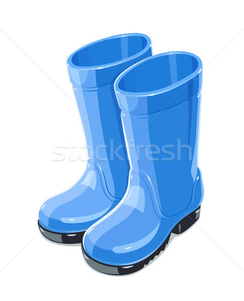 Rubber Garden boots. Protection shoes. Working uniform. Stock photo © Aleksangel